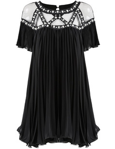 /sheer-mesh-yoke-beads-embellished-dolly-dress-black-p-3240.html