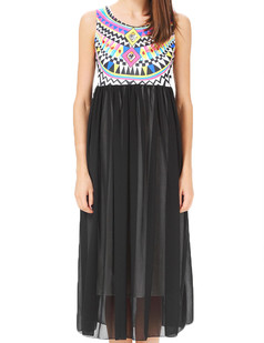 /tribal-sleeveless-print-chiffon-maxi-dress-black-p-3162.html