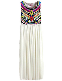 /tribal-sleeveless-print-chiffon-maxi-dress-white-p-3248.html