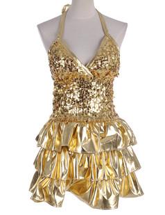 /sequin-embellished-tiered-ruffle-hem-shiny-dress-gold-p-4420.html