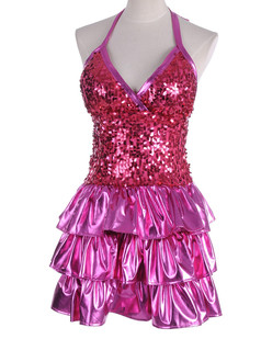/sequin-embellished-tiered-ruffle-hem-shiny-dress-pink-p-4424.html