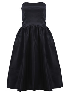 /black-strapless-flare-pleated-midi-bubble-dress-p-1487.html