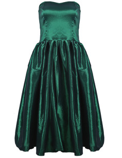 /green-strapless-flare-pleated-midi-bubble-dress-p-1485.html