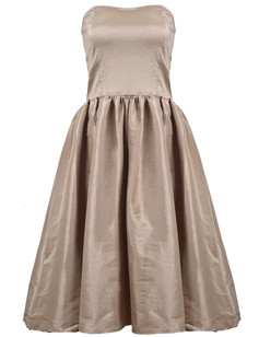 /champagne-strapless-flare-pleated-midi-bubble-dress-p-1486.html