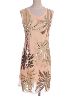 /sequin-embellished-palm-tree-pattern-shift-dress-p-1892.html