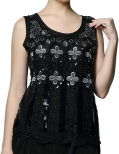/sequin-deco-embroidery-clover-shirt-black-p-6742.html