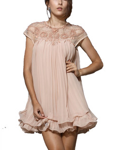 /beaded-lace-pleated-layered-chiffon-dress-p-875.html