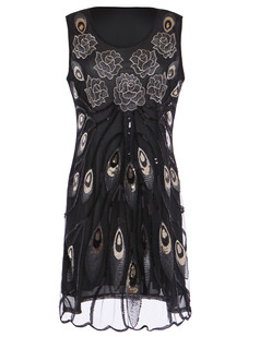 /black-embroidered-floral-deco-peacock-feather-scallop-hem-dress-p-6332.html