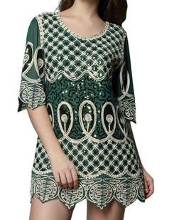 /sequin-deco-braid-net-embroidered-dress-green-p-6748.html