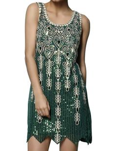 /fr/green-sequin-deco-baroque-pattern-vintage-dress-p-6710.html