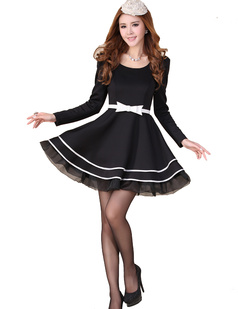 /ol-big-hem-tutu-skirt-princess-long-sleeve-dress-p-627.html