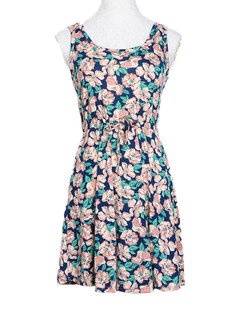 /plumeria-print-sleeveless-drawstring-dress-p-2378.html