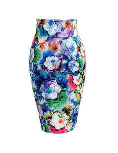 /fr/floral-print-pencil-aline-highwaisted-bodycon-midi-skirt-p-1316.html