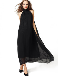 /offshoulder-laceup-chiffon-pleated-maxi-dress-black-p-1376.html