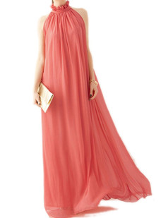 /offshoulder-laceup-chiffon-pleated-maxi-dress-watermelon-red-p-1380.html