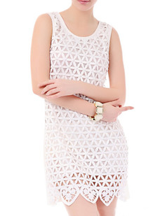 /white-bead-embellished-basket-weave-heart-hem-shift-dress-p-1878.html
