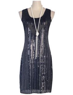 /black-sequin-embellished-mesh-bat-cut-out-back-shift-dress-p-6424.html