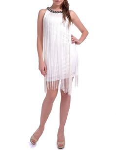 /white-long-fringe-braided-chain-neck-dress-p-1680.html
