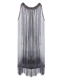 /black-and-silver-long-fringe-braided-chain-neck-dress-p-1672.html