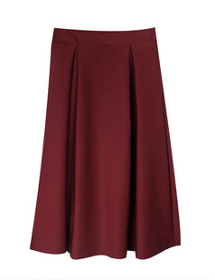 /burgundy-high-waist-a-line-pleated-midi-skate-skirt-p-1162.html