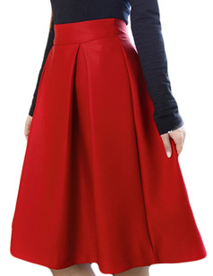 /high-waist-a-line-pleated-midi-skate-skirt-red-p-5414.html