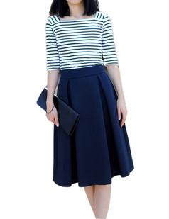 /navy-high-waist-a-line-pleated-midi-skate-skirt-p-1159.html