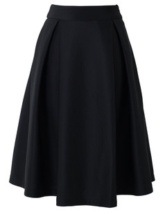 /black-high-waist-a-line-pleated-midi-skate-skirt-p-1047.html
