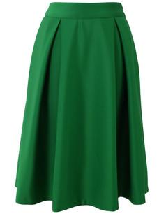 /green-high-waist-a-line-pleated-midi-skate-skirt-p-1278.html