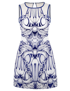 /organza-blue-and-white-porcelain-totem-pattern-flocking-dress-p-3442.html