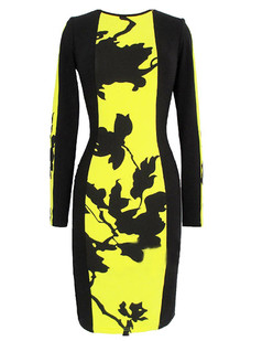 /contrast-floral-print-long-sleeve-pencil-dress-p-1440.html