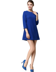 /ru/crop-sleeve-wool-blend-dress-back-bow-a-line-dress-p-1207.html