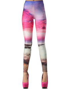 /neon-pink-beach-sunset-print-bodycon-legging-tight-pants-p-832.html