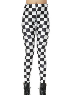 /women-monochromatic-chessboard-black-white-printed-leggings-p-269.html