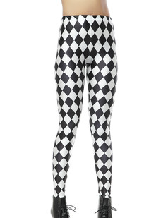 /women-diamond-rhombus-black-white-printed-leggings-p-270.html
