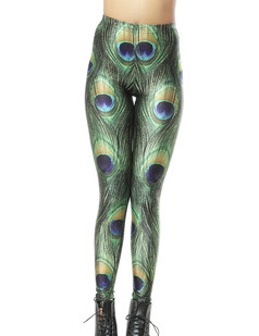 /women-peacock-feather-pattern-printed-tights-leggings-p-267.html