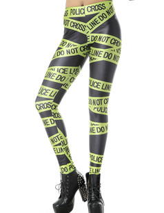 /yellow-police-line-and-letters-print-tights-leggings-p-795.html
