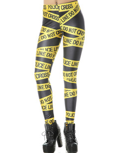 /yellow-police-line-and-letters-print-tights-leggings-p-796.html