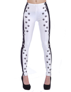 /black-and-white-contrast-dog-footprint-print-leggings-p-1267.html