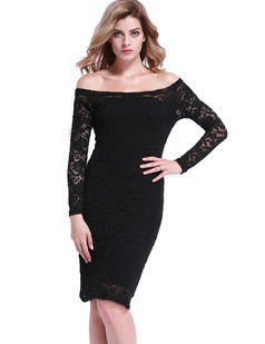/foral-lace-off-shoulder-stretchy-midi-dress-black-p-6808.html