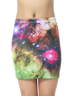 /women-psychedelic-digital-colorful-galaxy-starry-sky-print-elastic-mini-skirt-p-376.html
