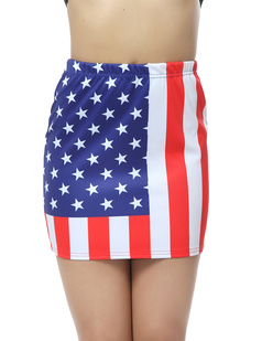 /women-american-flag-print-elastic-mini-skirt-p-381.html