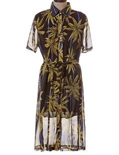 /chiffon-button-down-coconut-trees-work-shirt-dress-black-p-2456.html