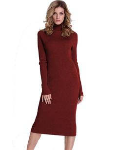/ribbed-turtleneck-midi-length-sweater-dress-burgundy-p-7190.html