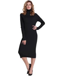 /ribbed-turtleneck-midi-length-sweater-dress-black-p-7084.html