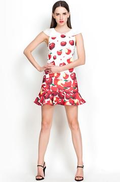 /white-cap-sleeve-red-apple-print-ruffle-dress-p-1670.html