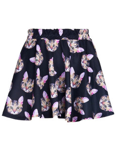 /3d-pussy-cat-face-head-print-high-waist-puff-skate-skirt-p-382.html