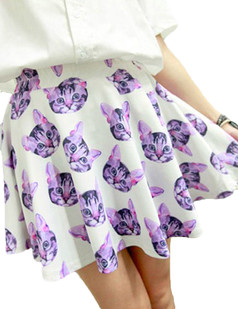 /3d-pussy-cat-face-head-print-high-waist-puff-skate-skirt-p-2978.html