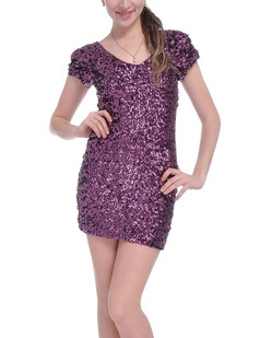 /purple-sexy-v-neck-sequins-all-over-ruched-sleeve-dress-p-1530.html