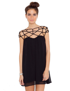 /women-weave-net-grid-cutout-double-layer-chiffon-mini-dress-p-472.html