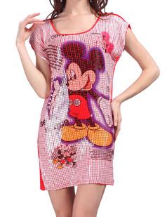 /sequin-animal-print-realistic-cap-sleeve-short-dress-watermelon-red-p-3670.html